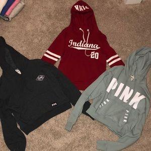 Bundle of 3 VS pink hoodies